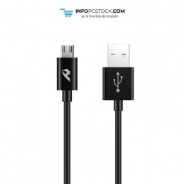 CABLE DE DATOS ENJOY NEGRO USB 20 A MICRO USB 24A LONGITUD 1M hOme YCB-01-MB
