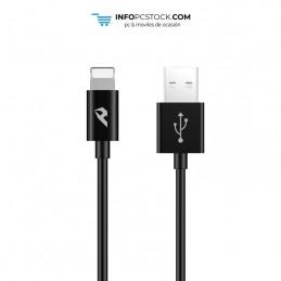 CABLE DE DATOS ENJOY NEGRO USB 20 A LIGHTNING 24A LONGITUD 1M hOme YCB-01-IPB
