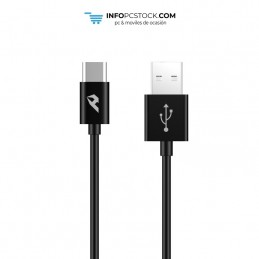 CABLE DE DATOS ENJOY NEGRO USB 20 A TIPO C 3A LONGITUD 1M hOme YCB-01-CB