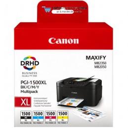 TINTA CANON PGI-1500XL PACK NEGRO CIAN MAGENTA AMARILLO Canon 9182B004