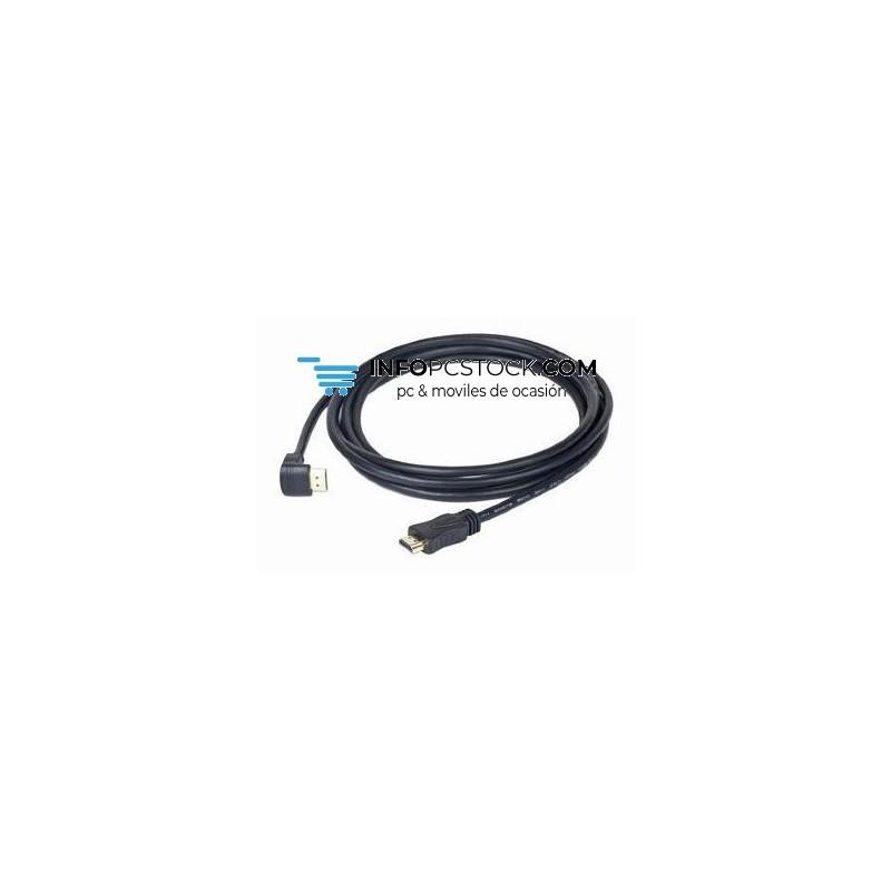 CABLE HDMI GEMBIRD MACHO MACHO 4K 3D 90 GRADOS 3M Gembird CC-HDMI490-10