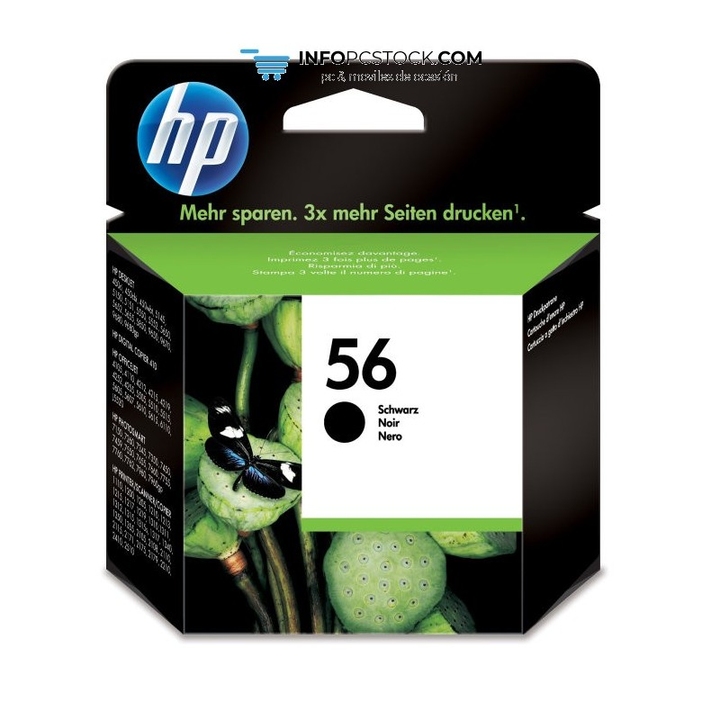 TINTAHP56NEGRA HP C6656AE