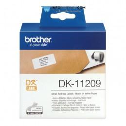 ETIQUETAS BROTHER DE DIRECCIÓN PEQUEÑAS 62MMX29MM, 800 UNIDADES DE PAPEL Brother DK11209