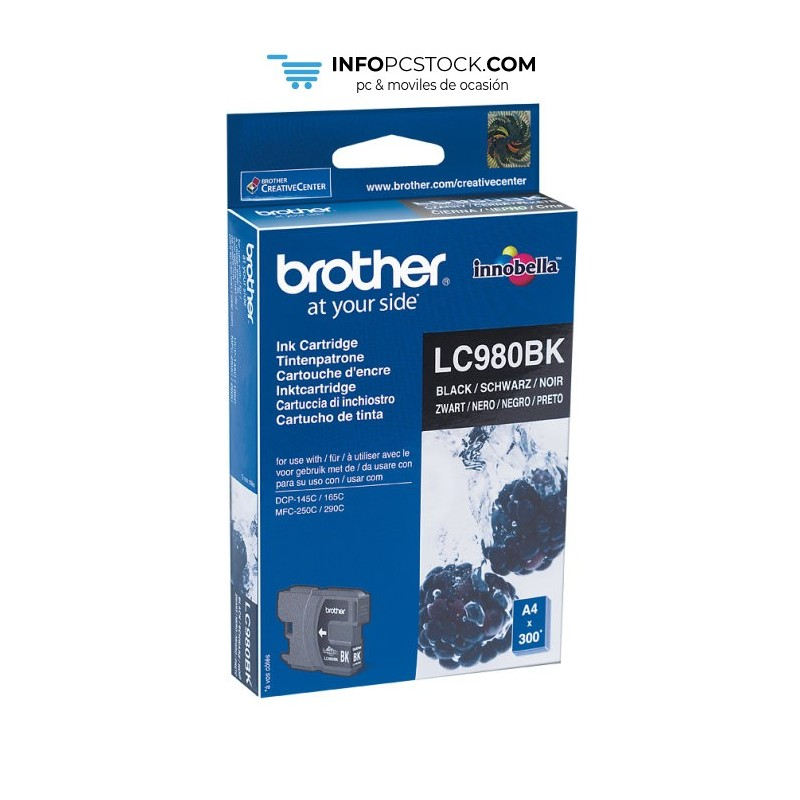 TINTA BROTHER LC980BK NEGRO Brother LC980BK