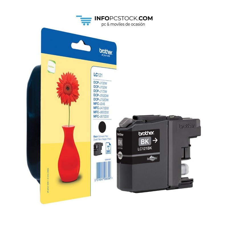 TINTA BROTHER LC121BKBP NEGRO Brother LC121BKBP