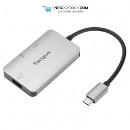 ADAPTADOR TARGUS USB-C A 1xHDMI Y 1xUSB 3.0 PLATA Targus ACA948EU