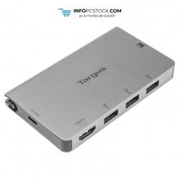 ADAPTADOR TARGUS USB-C A 1xHDMI Y 3xUSB 3.0 LECTOR SD/ MICROSD PLATA Targus ACA963EU