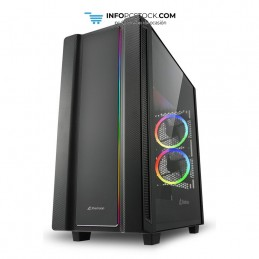 CAJA ATX SHARKOON REV220 2XUSB3.0 RGB SIN FUENTE NEGRO Sharkoon 4044951029761