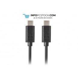 CABLE 2.0 LANBERG USB C MACHO/USB C MACHO 0.5M NEGRO Lanberg CA-CMCM-10CU-0005-BK