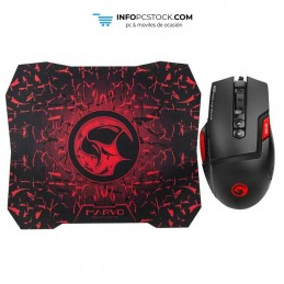 PACK SCORPION RATÓN+ALFOMBRILLA GAMING M355+G1 BK NEGRO Scorpion MA-M355+G1