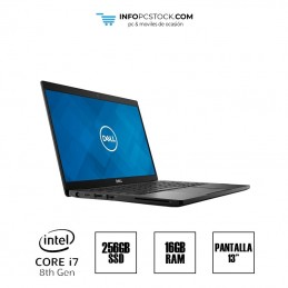 "DELL LATITUDE 7390, INTEL I7 8650U 2,11 GHz, 16 RAM, 256 SSD, 13\"" DELL 98GTYW2"