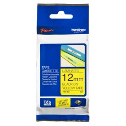 CINTA BROTHER LAMINADA AMARILLO NEGRO 12MM