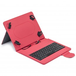 "FUNDA TABLET MAILLON URBAN KEYBOARD USB 9.7""-10.2"" ROJO"