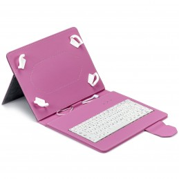 "FUNDA TABLET MAILLON URBAN KEYBOARD USB 9.7""-10.2"" ROSA"